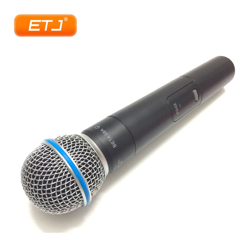 Professional Handheld Wireless Microphone Karaoke UHF Microphone PGX24/Beta58 Headset Mic Top Quality PGX2 ur6s professional uhf karaoke wireless microphone system 2 channels cordless handheld mic mike for stage speech ktv 80m distance