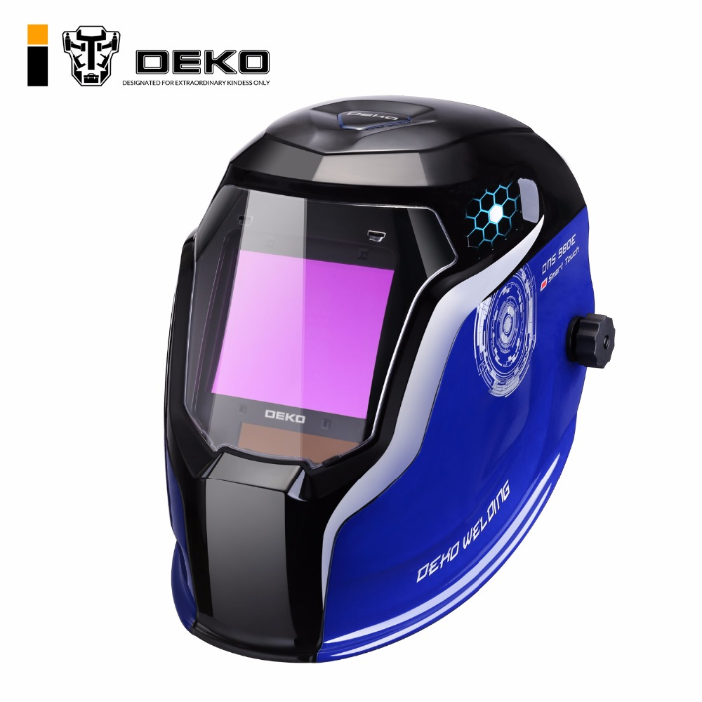 DEKO DNS 980E Upgraded Solar Power Auto Darkening Welding Helmet Shade Range 4 5 8 5