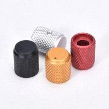 5pcs Diameter: 12mm Hoogte: 15mm Aluminium Gekartelde Volume Potentiometer Knop Zwart/Zilver/Rood/Goud