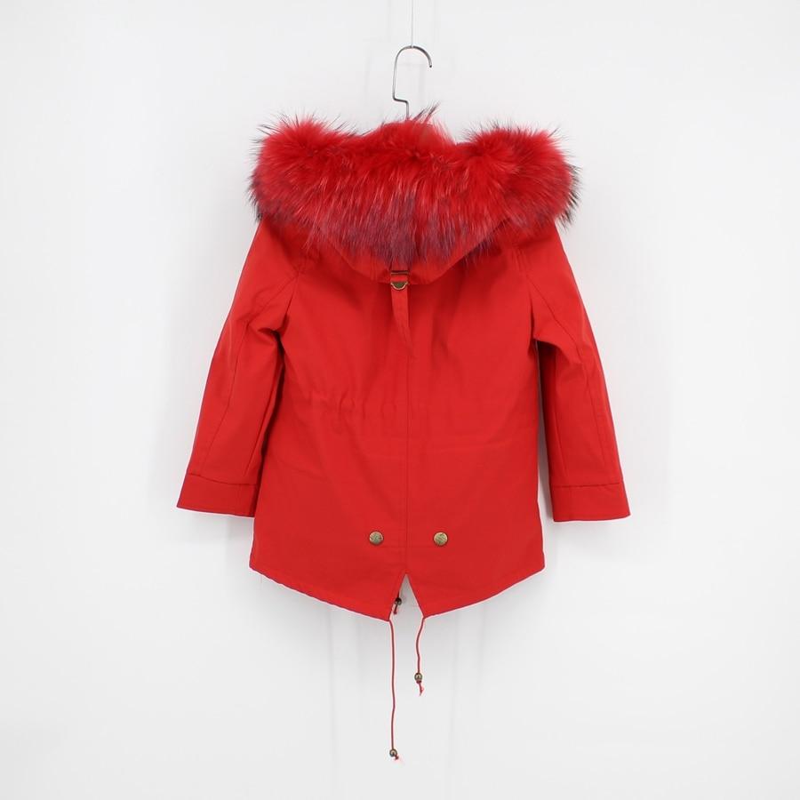 childred winter natural fur parka (4)