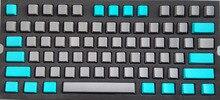 Pbt вишня профиль пустой колпачки 109 151 ключей серый зеленый цвет для 61 87 104 108 Игры Механическая клавиатура