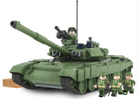 2017 New 456pcs Military Battle Tank Model Toys Russia T90A Marine Hero Building Blocks Assembled Brick