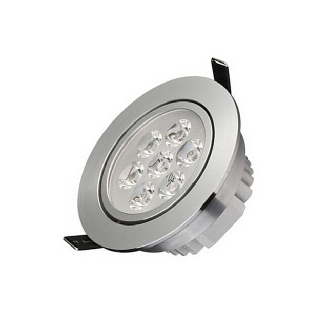 Dimmable 7w 7x1w led downlights led ceiling lamps recessed spot dimmable 7w 7x1w led downlights led ceiling lamps recessed spot light down lights for home illumination aloadofball Image collections