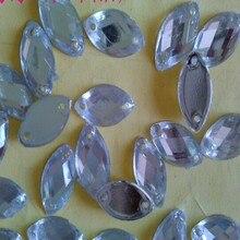 Стразы для торжественное платье украшения, 500 шт./лот, 8*18 мм размер необычные акриловый камень аксессуары