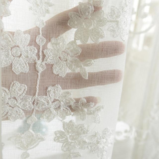 Ricamato Bianco Tulle Tende Per Il Salone Europeo Voile Tende Trasparenti Per Finestra Camera Da Letto Tende di Pizzo Vento Fresco Verde