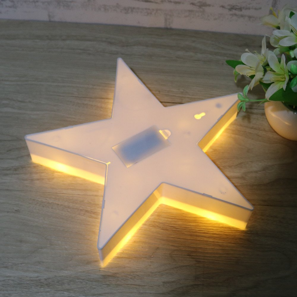 LumiParty 3D Marquee Cloud Led Night Light Warm White Star Table Lamps For Kids Children Gift Party Wedding Room Decorations