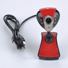 USB 2.0 50.0 M 6 LED PC Camera HD Webcam Camera Webcam met MICROFOON voor Computer PC Laptop(China)