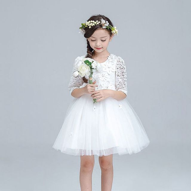 88e84504dbd3 YNB Girls Long Sleeve Dress for Party and Wedding 2017Girl Dress ...