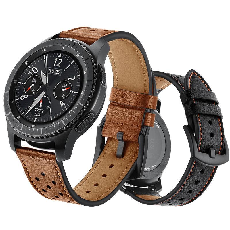 22mm strap for samsung galaxy watch 46mm s3 Frontier/Classic huami amazfit huawei 2 classic watch gt band Genuine Leather belt22mm strap for samsung galaxy watch 46mm s3 Frontier/Classic huami amazfit huawei 2 classic watch gt band Genuine Leather belt