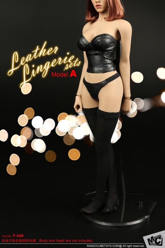 In-stock 1//6 Scale MC TOYS F-049 Female Leather Lingerie 12in Clothes Set A//B
