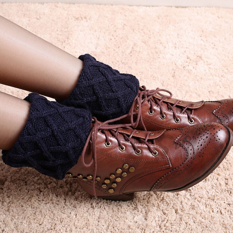 Toivotuksia polainas crochet knit Boot cuffs Boot Calcetines ...