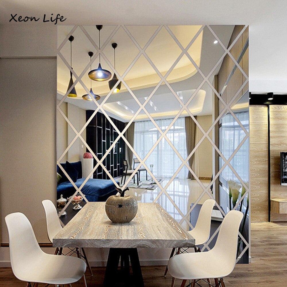 ISHOWTIENDA Neue 1 Stück 50*50 Cm DIY LIEBE 3D Aufkleber Spiegel Aufkleber  Hause Wohnzimmer Dekoration Spiegel Oberfläche Aufkleber