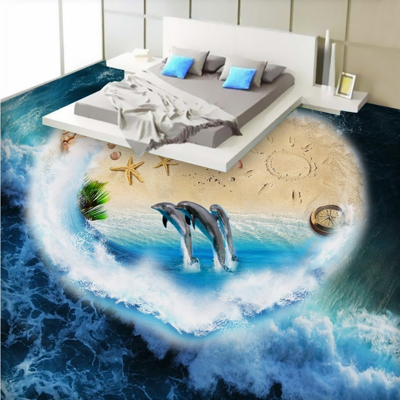 Free Shipping Custom Aegean Sea World 3D Floor painting wallpaper waterproof floor mural электрическое одеяло aegean islands 150x120 801128