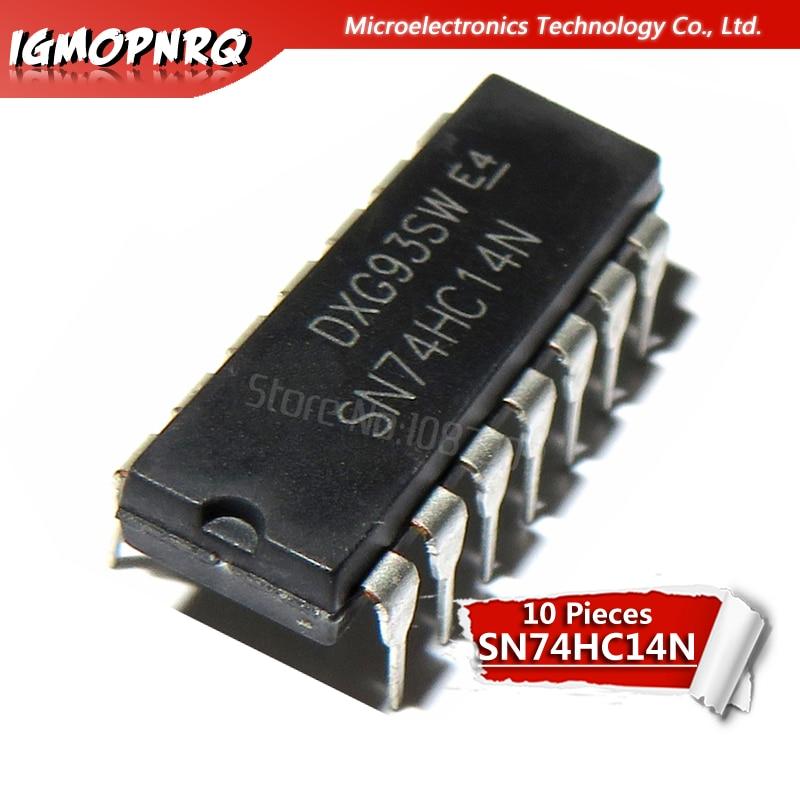 10pcs SN74HC14N 74HC14 SN74HC14 DIP-14 Inverters Hex Schmitt-Trigger New Original