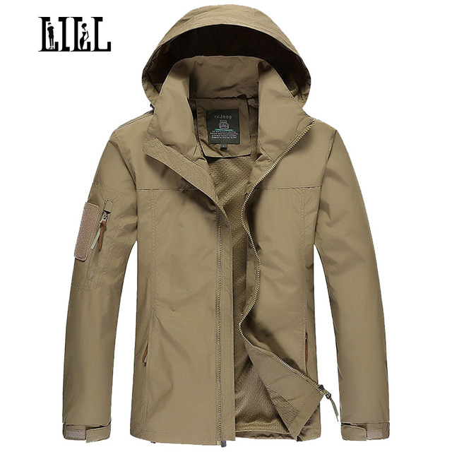 Lill Mens Military Waterproof Jacket Coat Men Spring
