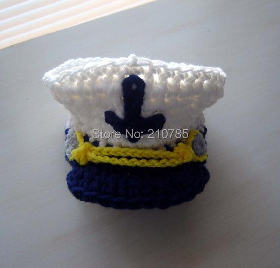 Meer Kapitän Marine Baby Boy Häkeln Set Handgefertigten Hut und Baby ...