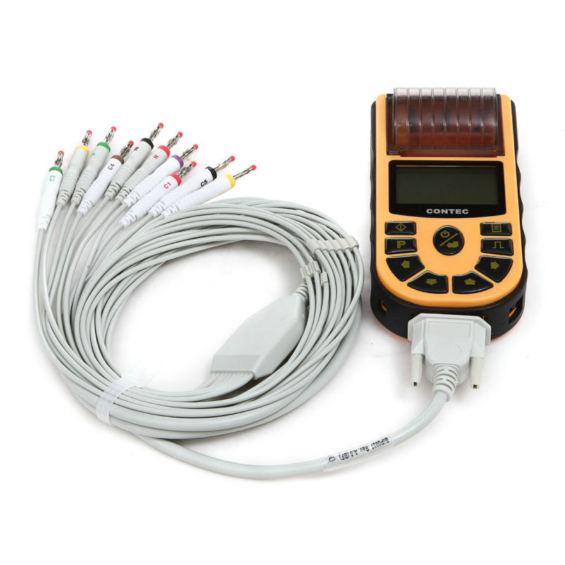 CONTEC CE, HandHeld Digital Single Channel ECG Elettrocardiografo + Software Libero, ECG80A