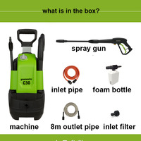 Greenworks 220V 1500w Max 120 Bar  480LPh G30 Pressure Washer Household Cleaning Machine Electric Car Washer With Hose Reel