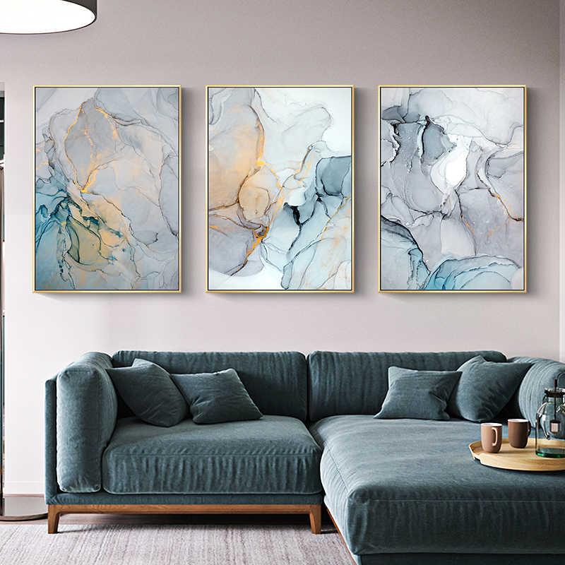 Abstrak Kanvas Lukisan Gambar Cetak Dinding Seni Modern Lukisan Dinding Berwarna Merah Muda Biru Gambar untuk Ruang Tamu Poster Dekorasi Rumah Unframed