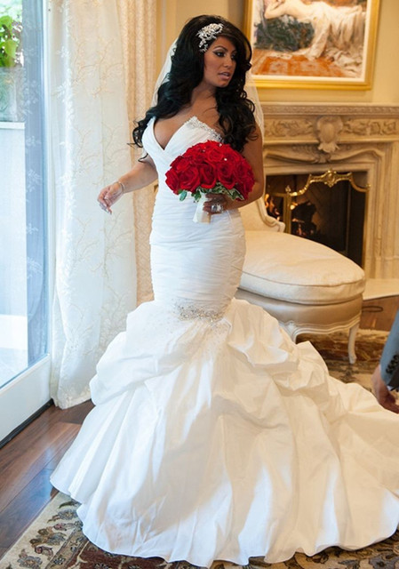 vestido de novia mermaid africa nigeria taffeta sweetheart strapless