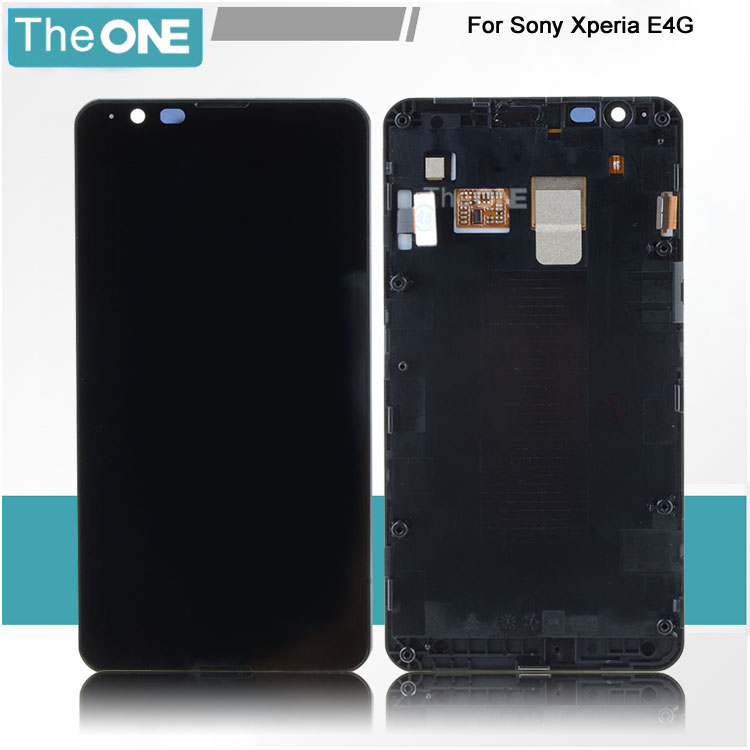 ФОТО Black For Sony Xperia E4g LCD Touch Screen Digitizer LCD Display Assembly with Frame Assembly VAE35 T15