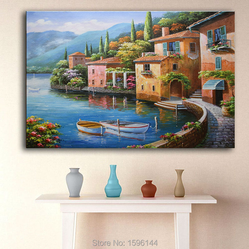 Acquista paesaggio di mare mediterraneo - Quadri per bagno ...