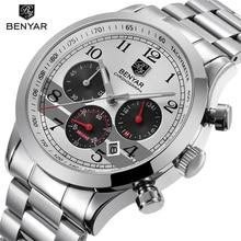 Relojes 2018 benyar relógio masculino moda esporte quartzo relógios dos homens marca superior luxo negócio à prova dwaterproof água relógio relogio masculino