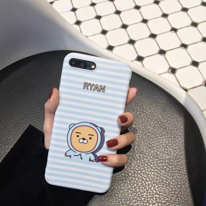 B&E Lovers bear 7 Plus cute cartoon fitted case for iPhone 6s cute silicon gel 7 8 Plus back cover capa compact coque protection
