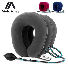 US Stock 3 Layer Inflatable Air Cervical Neck Traction Device Soft Neck Collar for Pain Relief Neck Stretcher Pain Relieve цены онлайн