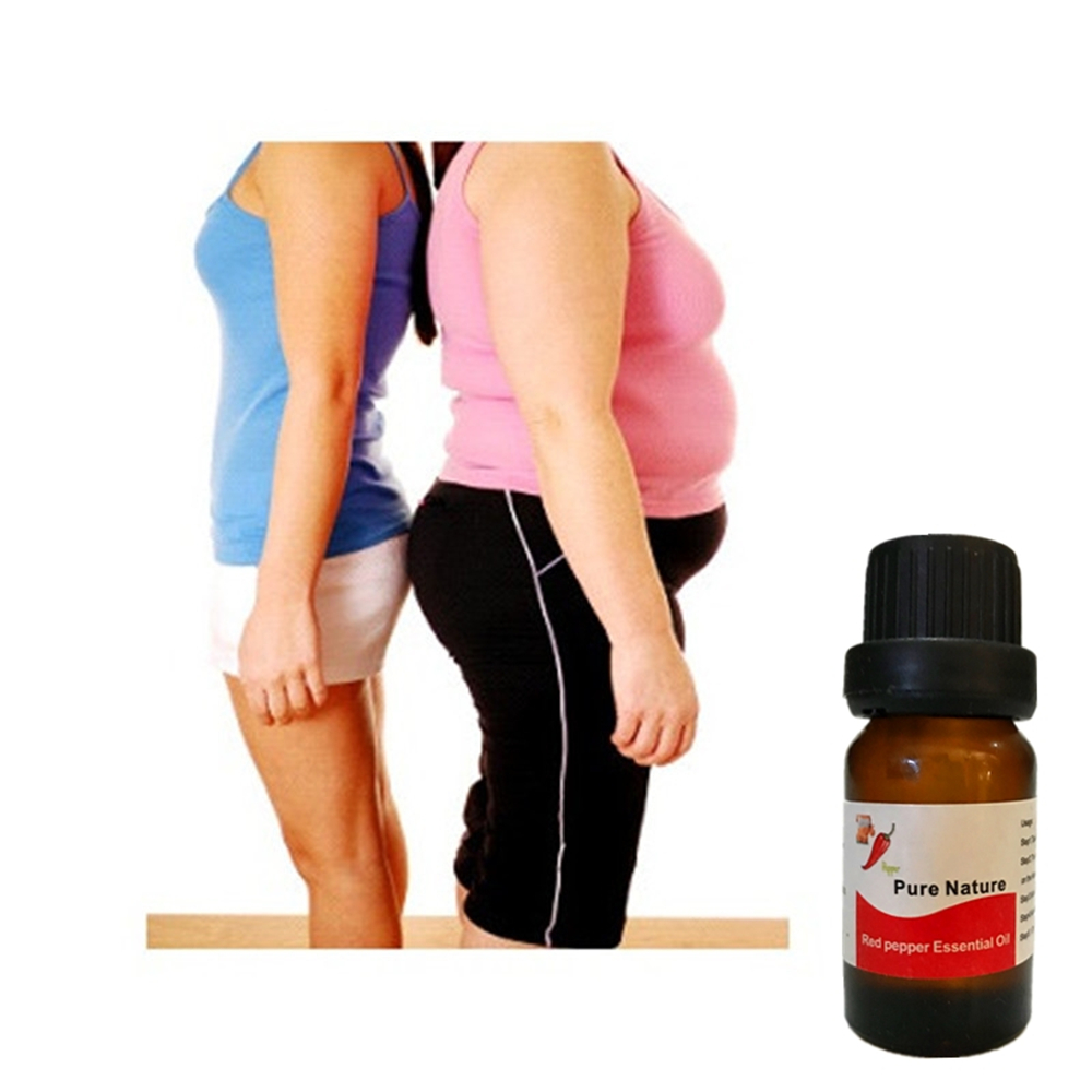 Capsicum Fat Burner Massage Essential Oil Thin Abdomen Hip Lifting Nature Hot Chilli Weight Reducing Gel 10ml Slim Patch 1Pcs
