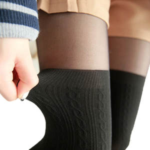 Pantyhose Tights Stockings Spring Twisted-Knee Style Girls Black Female Autumn Women