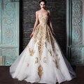 Дизайн Винтаж Sweetheaert Ближнем Востоке Длинное Вечернее Платье Золотой Аппликация Вечернее Платье Марокканских Женщин Одеяние Де Вечер Couture