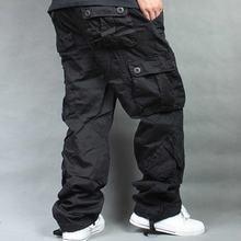 Мужские брюки карго с несколькими карманами повседневные размера