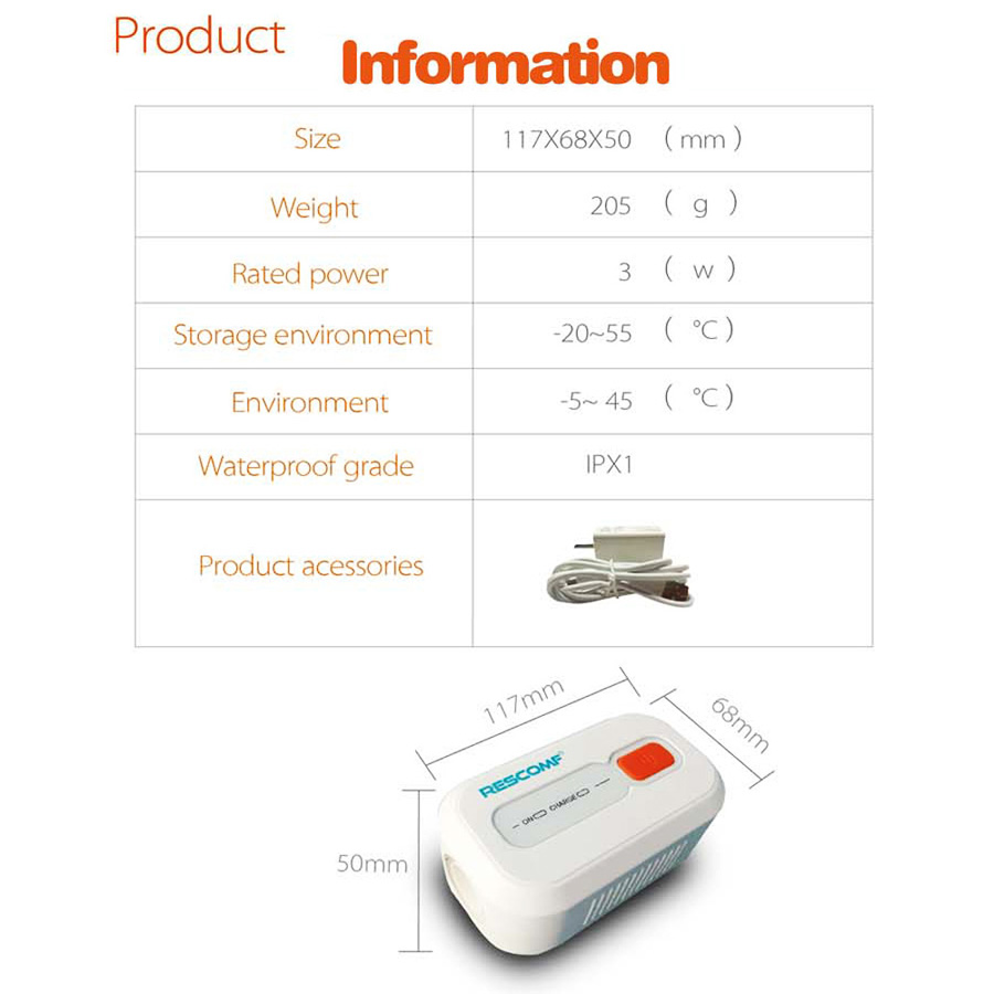Portable Battery Operated CPAP Sanitizer For Air CPAP Machine