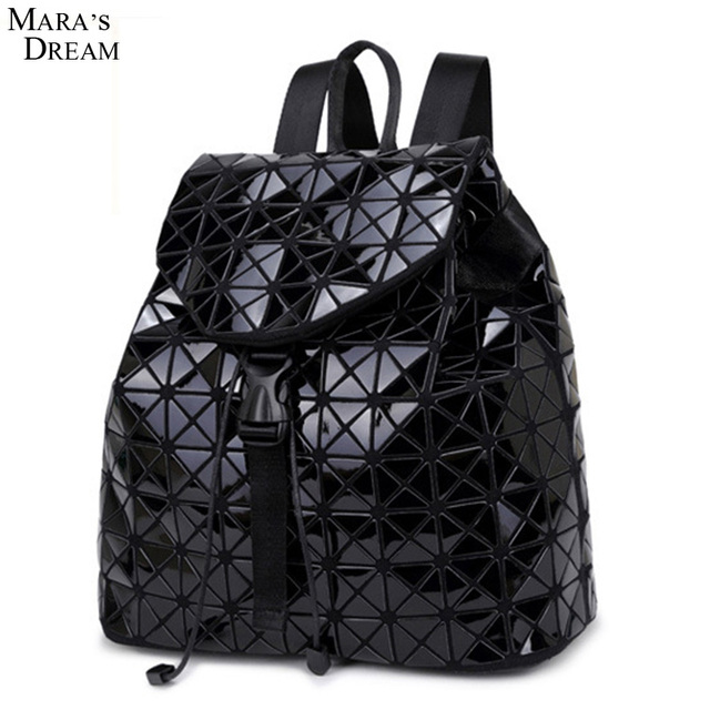 Mara's Dream Women Backpack 2016 Geometric Patchwork Diamond Lattice Backpack Famous Brand Drawstring Bag Mochila sac a dos