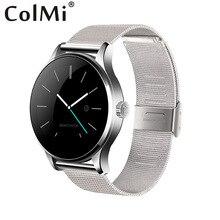 ColMi Smart Uhr K88H Legierung Lederband Herzfrequenz Tracker Sync Benachrichtigung Bluetooth Verbinden mit Android iPhone Smartwatch