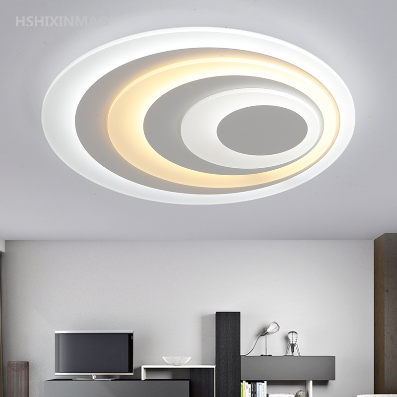 Ceiling Lights Learned Acrylic Modern Crystal Lamp Led Creative Living Room Simple Modern Circular Household Lamp Decoration Childrens Lamp The Latest Fashion Ceiling Lights & Fans