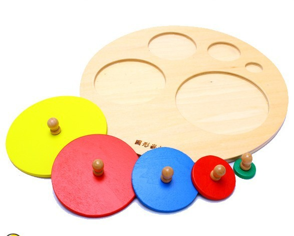 candice guo! Montessori AIDS early development educational wooden toys circular panel catching board 1pc