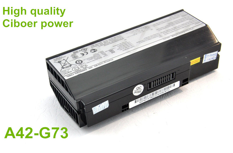 14.6V 75Wh Original A42-G73 battery for G73 G73J G73jh G53 series laptop A42-G73 bateria Free shipping