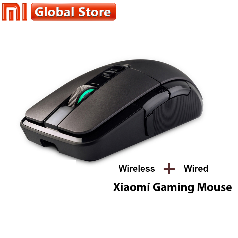 купить Original Xiaomi Gaming Mouse Gamer DPI Overwatch PUBG RGB Lights Programming Mouse 7200 Dual Mode Wireless Mouse Dota Mouse Game по цене 2936.81 рублей