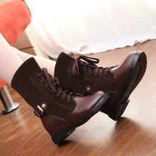2015 Rushed Medium(b,m) Adhesive Botas Femininas Boots Europe Stitching New Fall Boots Women's Flannel 7-hole Low-heeled Martin