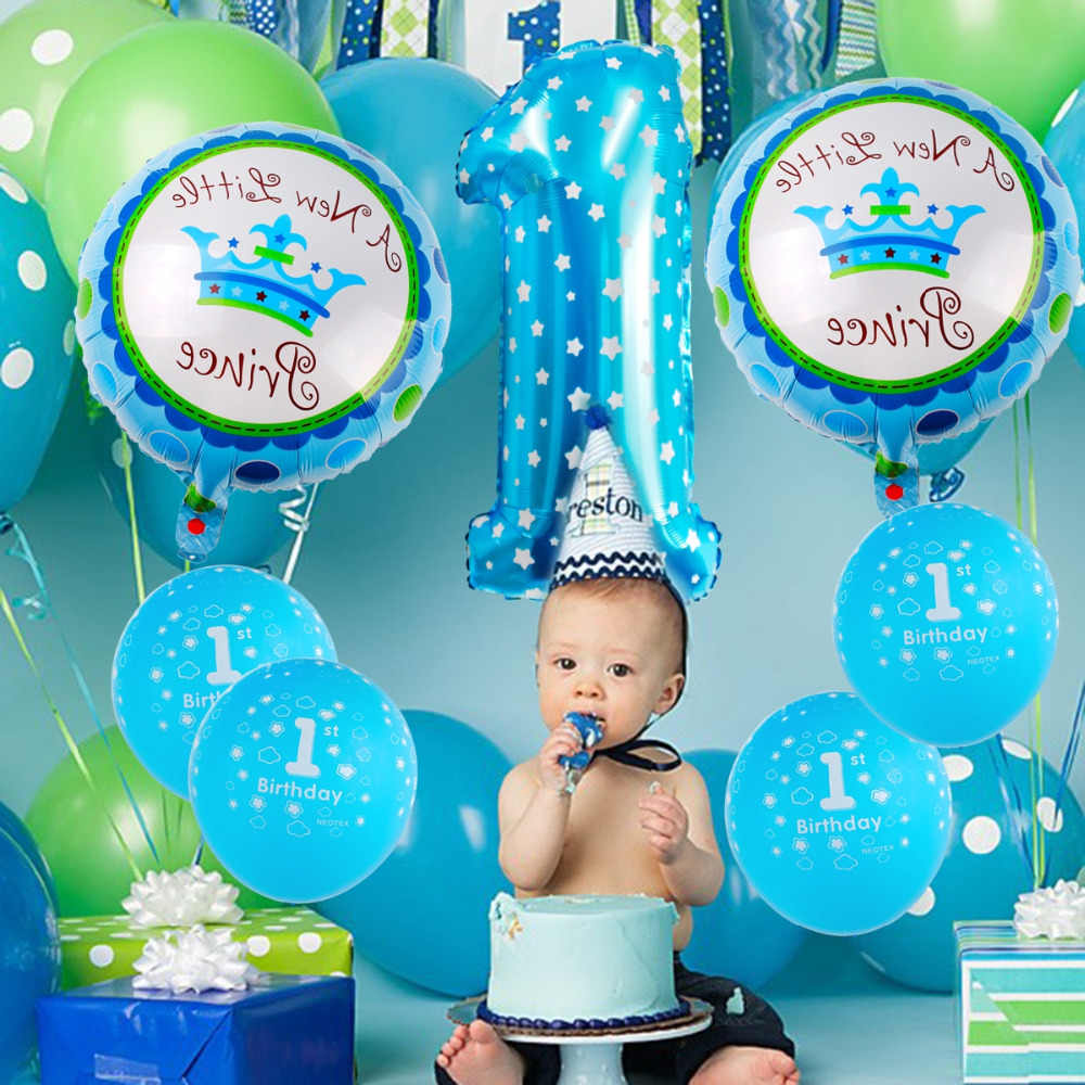 QIFU First Birthday Boy Party Decor 1st Decorations Kids 1 Year