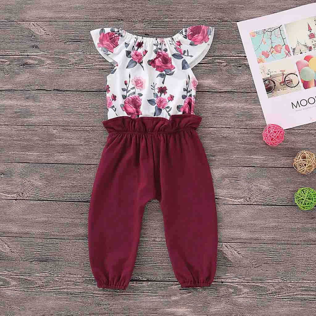 15a11a2f7 ... Newborn Summer 2019 Baby Girl Boy Clothes Fashion Patchwork Floral  Print Baby Rompers Baby Onesie Baby ...