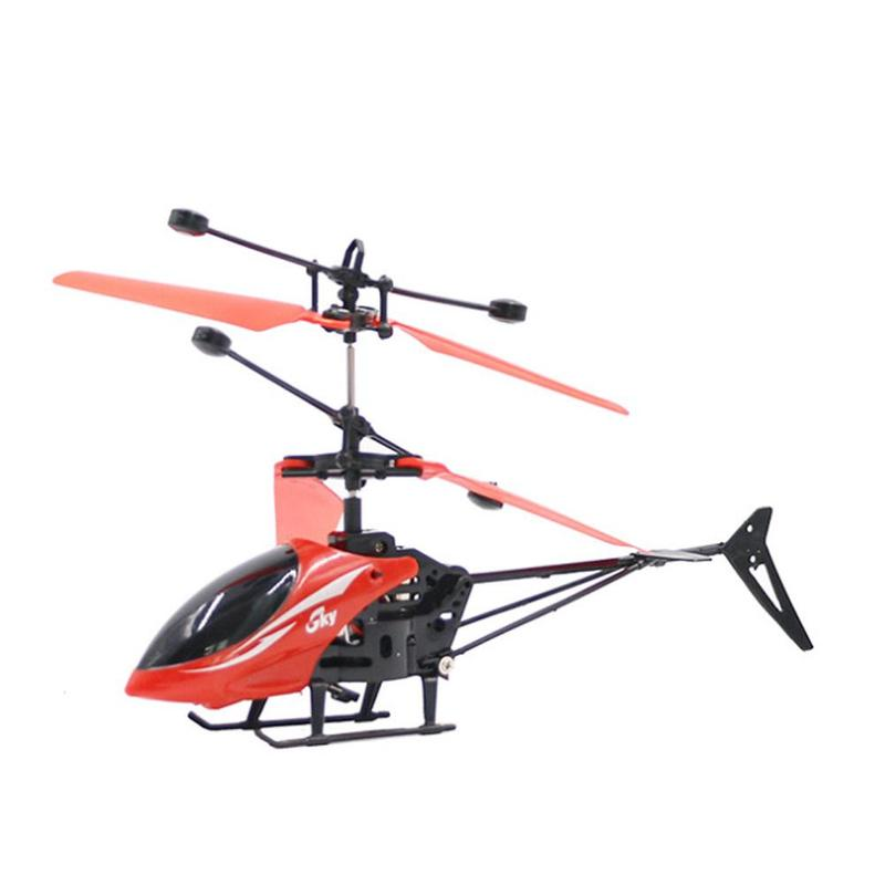 Small RC Helicopter Without Control 2.5 RC Drone Flying RC Helicopter Aircraft Dron Infrared Induction Outdoor Toys For Children