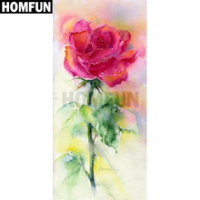 HOMFUN Full SquareRound Drill 5D DIY Diamond Painting Oil painting rose 3D Embroidery Cross Stitch 5D Home Decor Gift A00346