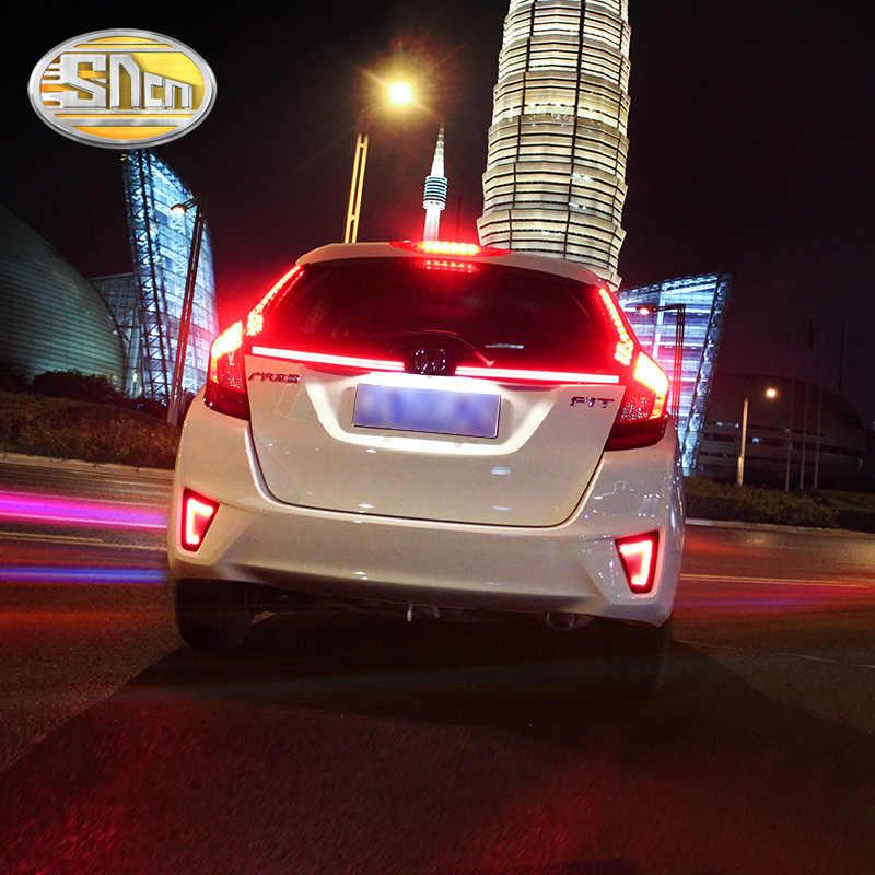 2 шт. для Honda Jazz Fit 2014 2015 2016 2017 SNCN автомобиля светодиодный фонарь светильник заднего бампера светильник тормозной светильник авто лампа украшение лампы