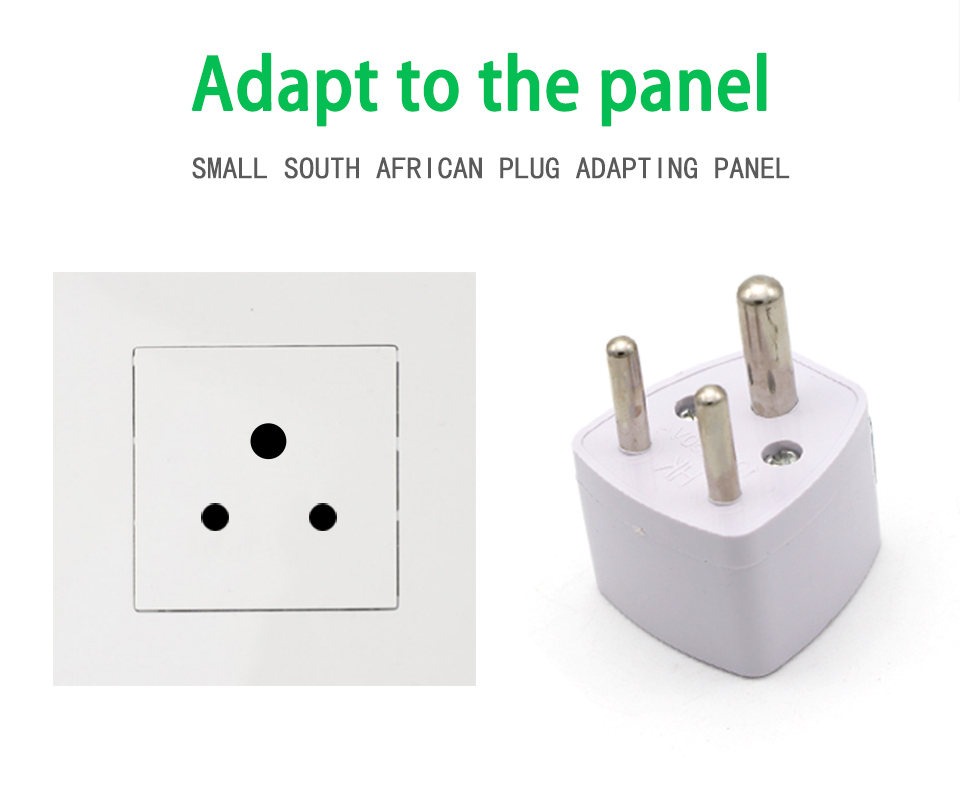 1PC 3 pin India Travel Converter Adaptor AC Power Multi Outlet Adapter Socket Universal UKUSEUAU to Small South Africa Plug (6)