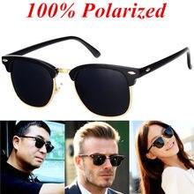 dae35eeb2c BOYEDA Brand Sunglasses Polarized Vintage Half Frame Retro Glasses for Men  Round Classic UV400 Mirror Designer Sun Glasses Women