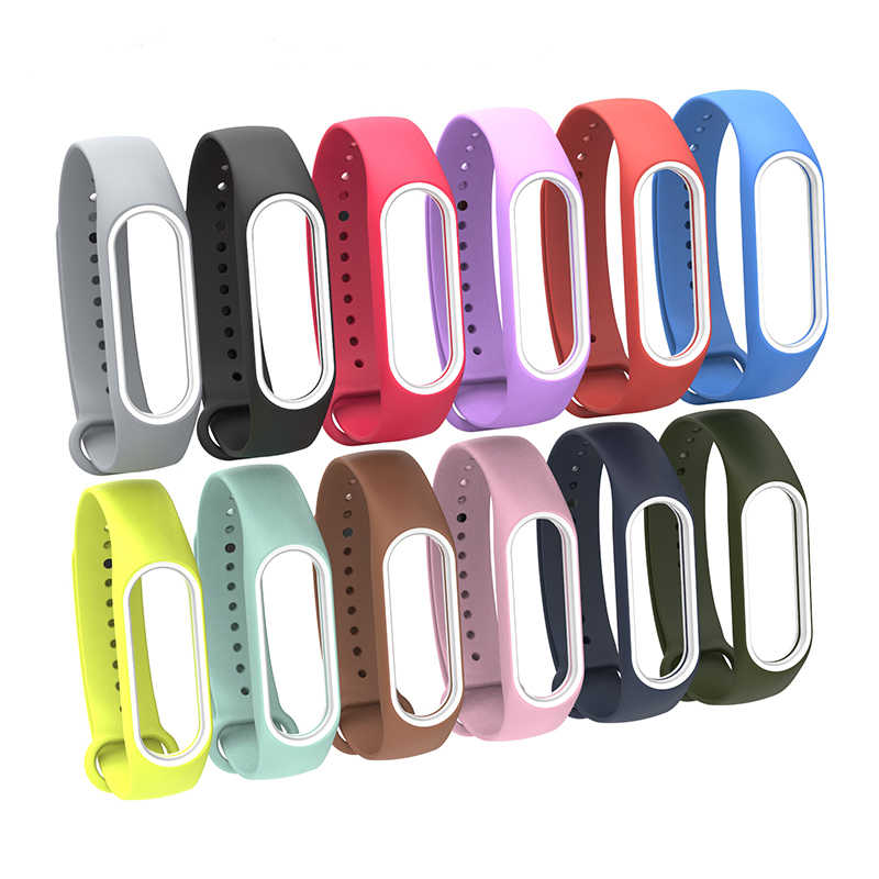 Hot Double color mi band 3 strap silicone wrist strap replacement for xiaomi mi 3 smart bracelet with varied 12 colors