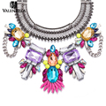 VALEN BELA Fashion Women Multicolor Maxi Statement Necklace Bib Collier Chocker Jewelry Wholesale Choker Collar Necklace XL1570